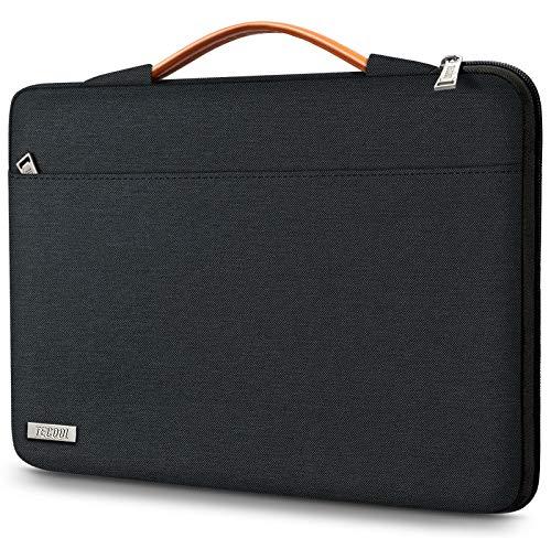 TECOOL Housse Ordinateur Portable pour 14 Pouces HP Lenovo Acer ASUS Dell Notebook, 15 Pouces Surface Laptop 3, 2016-2019 MacBook Pro 15 Pochette Sacoche avec Poignée, Noir