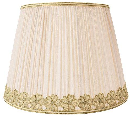 Outgeek lampe ombre champignon plissé dentelle Softback abat-jour tambour pour chambre Table Decor