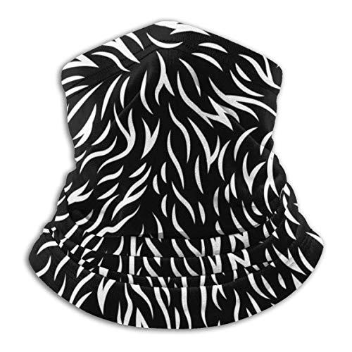 JKHHW Fleece Nackenwärmer Gamasche Katzenfell Textur Muster Weiche Mikrofaser Kopfbedeckung Gesicht Schal Maske Für Winter Kaltes Wetter &Warmhalten Für Herren Damen