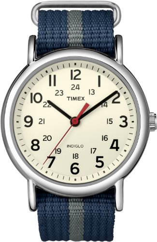 Timex Unisex Weekender Slip-Through Watch - Navy/Gray