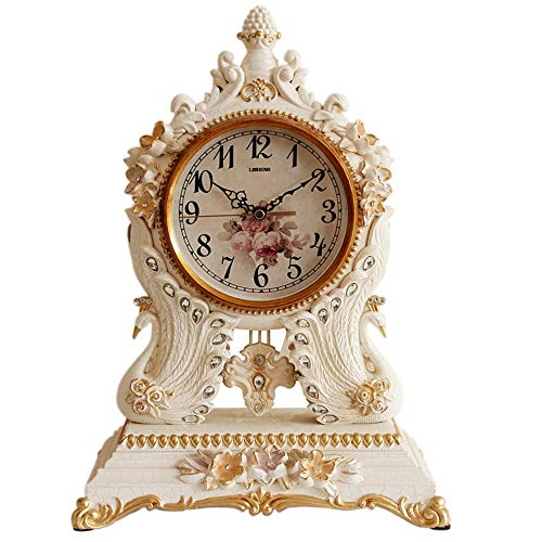 WanuigH - Reloj de escritorio para sala de estar o despacho, para salón, dormitorio, oficina, diseño de ceiba