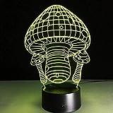3D lámpara seta 16 color LED noche lámparas para niños táctil USB mesa bebé dormir noche luz
