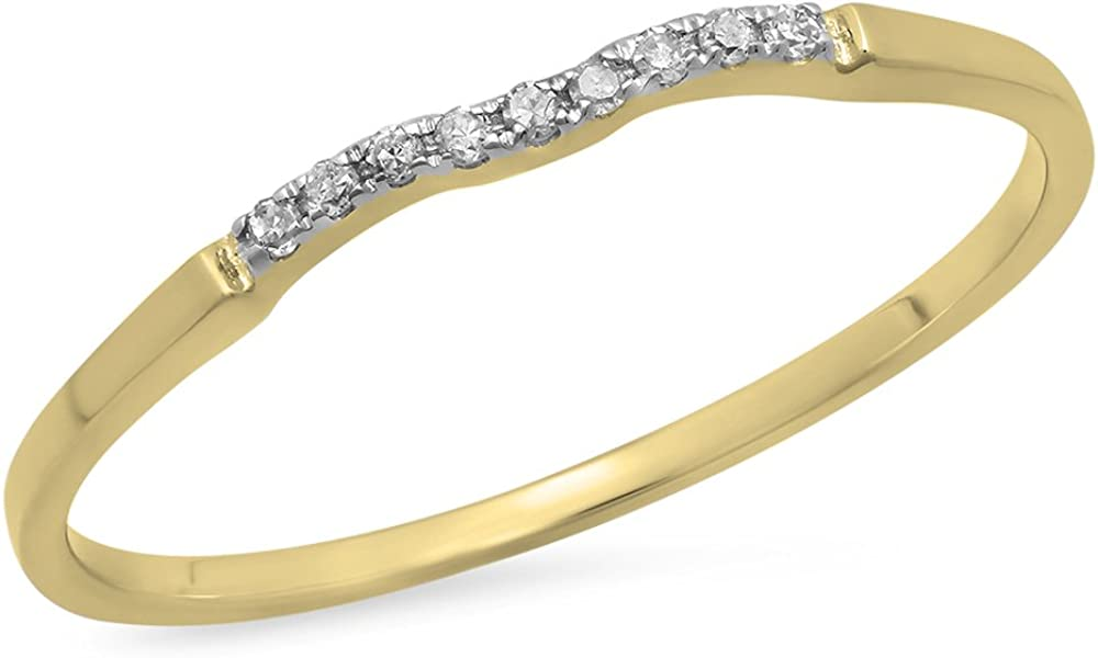0.05 Carat ctw 14K Gold Max 42% OFF Round W Ring Anniversary Super Special SALE held Diamond White