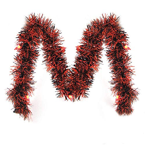 Brite Star Halloween Lighted Garland, 10 ft, Orange/Black