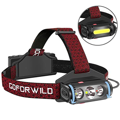 GOFORWILD Headlamp, Brightest LED Work Headlight, 18650 USB...