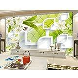 Dalxsh Individuell Bedruckte Tapeten Europäischen Stil Rose Blume 3D Soft Case Leder Tv Hintergrund Wandbild Tapeten Wohnzimmer Sofa Schlafzimmer-250X175Cm