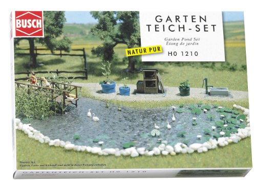 Hornby France - Busch - 1210 - Circuit - Train - Set bassin de jardin