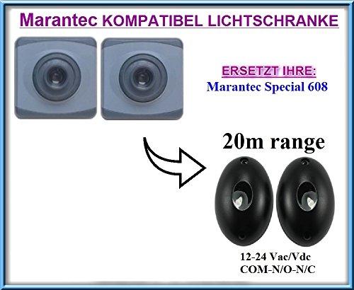 Marantec Special 608 kompatibel lichtschranke, paare von äußere universale Fotozellen / Infrarot IR Sicherheit Sensor 12 -24 Vac/Vdc, NO/NC. Reichweite: bis 20m!!!