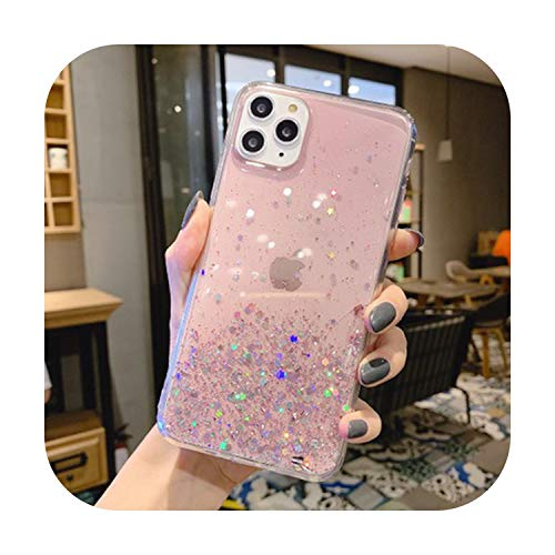 3D Vivid Chocolate Cookies Clear Phone Case for iPhone 11 Pro Max XR XS Max X 6 6S 7 8 Plus Silicone Soft Back Cover Capa-Pink Glitter for iPhone 8 Plus