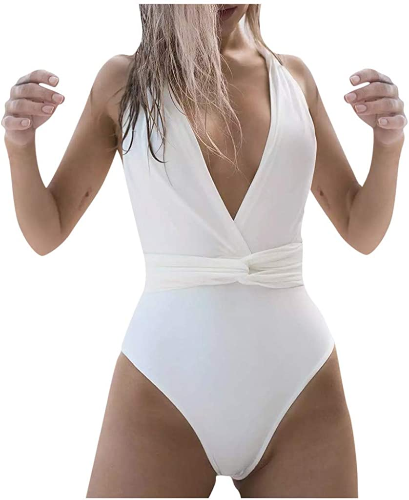 Wulofs Max 42% OFF Women's One Piece Tankinis Control Back Tummy Credence Front Cross