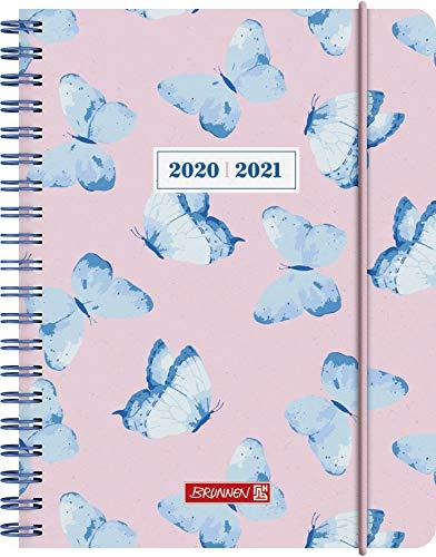 """BRUNNEN 1071850041 """"Schmetterling"""", Wochenkalender/Schülerkalender 2020/2021, 2 Seiten = 1 Woche , Blattgröße 12 x 16 cm , A6 , PP-Einband"""