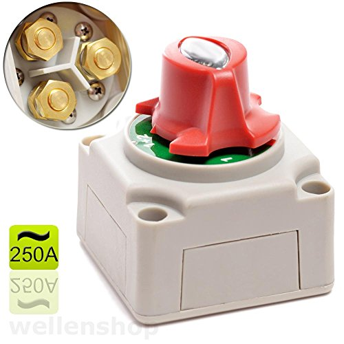 wellenshop Batteriehauptschalter Trennschalter 6-48 Volt