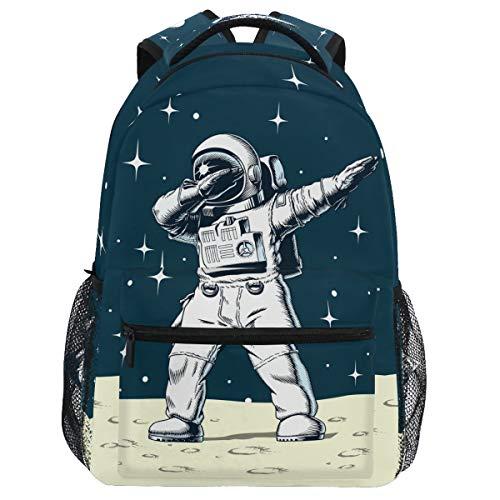 Oarencol Dabbing Astronauta Space Mochila Moon Star Bookbag Daypack Viaje Senderismo Camping Escuela Bolsa Portátil