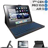 iPad Keyboard Case for iPad 10.2 2019, iPad Air 10.5 2019, iPad Pro 10.5 2017 -...