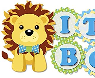 Blue Lion King Baby Shower Banner - IT'S A BOY! Garland Party Decoration - Handmade in USA