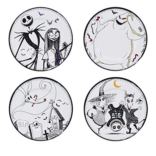ABYstyle - Disney - Nightmare before Christmas - Set con 4 Platos - Jack & Cie