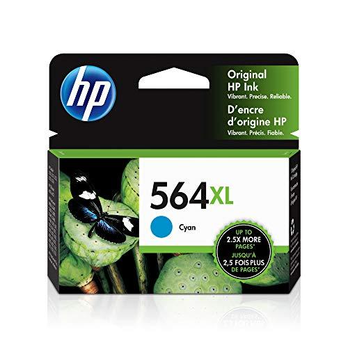 HP 564XL | Ink Cartridge | Cyan | Works with HP DeskJet 3500 Series, HP Officejet 4600 5500 C6300 6500 7500 Series, B8550, D7560, C510, B209, B210, C309, C310, C410, C510 | CB323WN