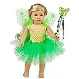 ZITA ELEMENT Puppenkleidung Kleider Tutu Kleider Zubehör für 18 Zoll Puppen 40-46 cm für Baby...