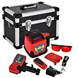 FORAVER Rotary Laser Level Red Beam Self Leveling Measuring Automatic Rotating Laser Level with Receiver...