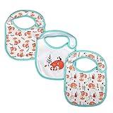 ベビー唾液タオル、コットン防水ベビービブブブ 3枚 新生児用授乳瓶(4)