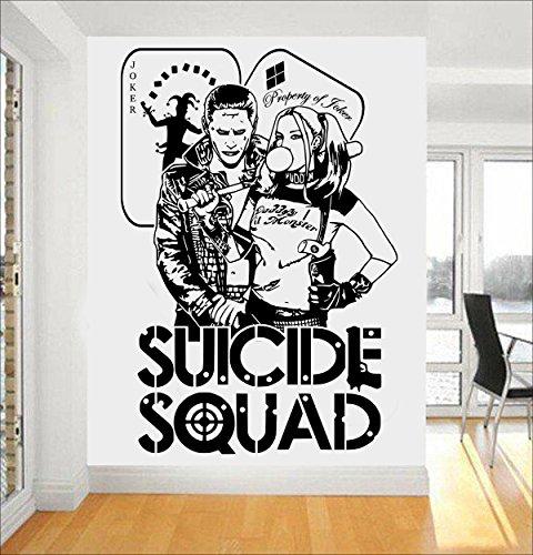 D&C Harley Quinn & Joker DC Comics Suicide Squad Task Force X Art Wand Sticker/Aufkleber