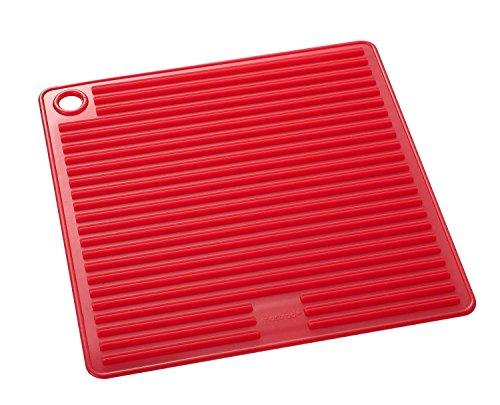 mastrad Manique Carrée Silicone sans BPA F83415, Rouge, 18x18cm