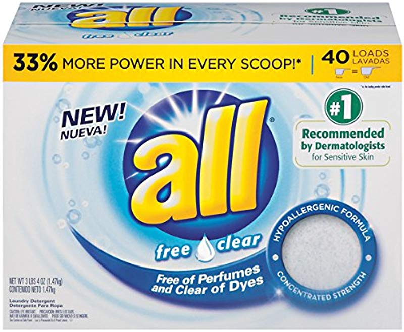 All Powder Laundry Detergent Free Clear For Sensitive Skin 52 Ounces 40 Loads