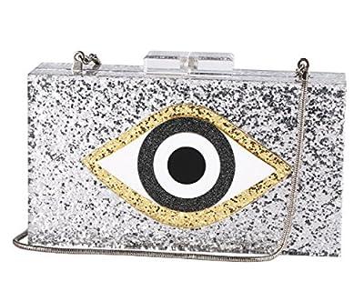 Sequin Silver Acrylic Clutch Bags Glitter Purse Perspex Bag Evening Handbags for Women