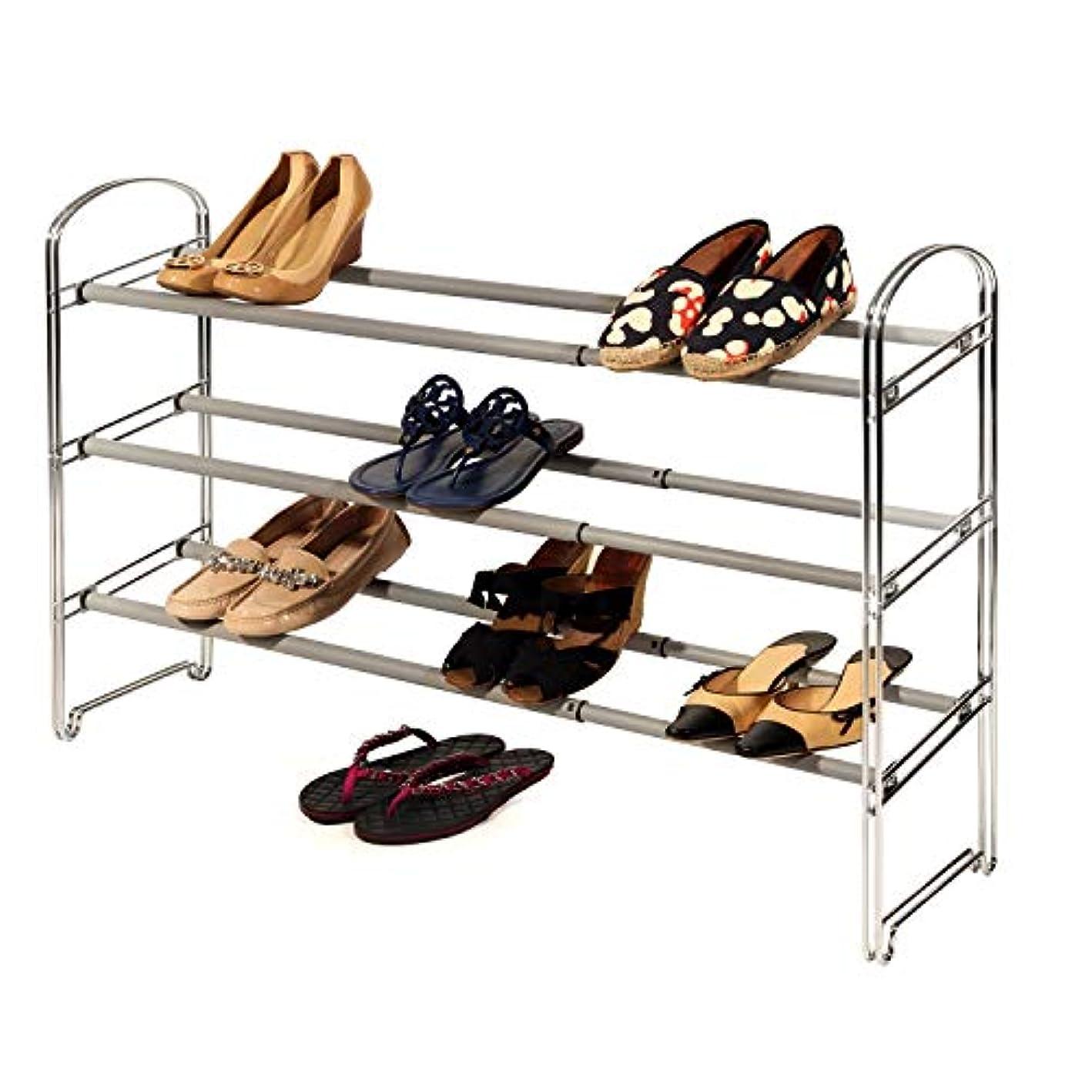 NCT 127 TSR Metal Chrome Shoe Organizer, Shoe Storage Organizing Unit, Entryway Shoe Storage Unit, Expandable Shoe Rack, 3 Tier Adjustable Rack with E-Book
