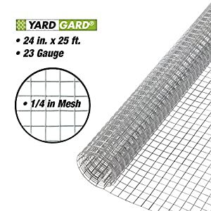 YARDGARD 308212B 23 Gauge 1/4 Inch Mesh 2 Foot x 25 Foot Galvanized Hardware Cloth