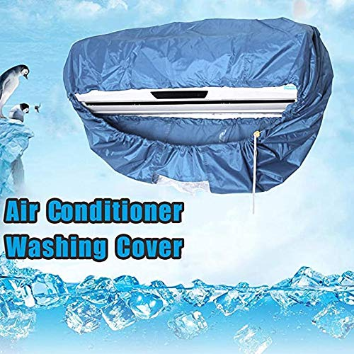 XING Air Conditioner Cleaning Cover, Washing Bag Anti Dust Tools, Waterproof PU Sealing Strip Generally Used for 1-1.5P/2-3P,L