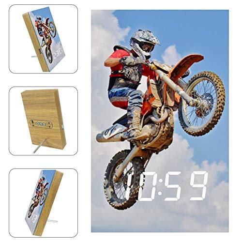 Reloj Despertador Digital Motocross 02 Reloj Electrónico Me