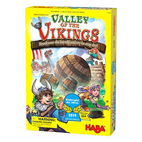 HABA Valley of the Vikings - Knock Down Barrels & Collect (or Steal) the Most Gold! - 2019 Kinderspiel des Jahres (Children