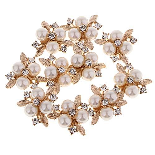 yotijar 10 Piezas de Perlas de Diamantes de Imitación para Tocado de Novia, Vestido de Novia