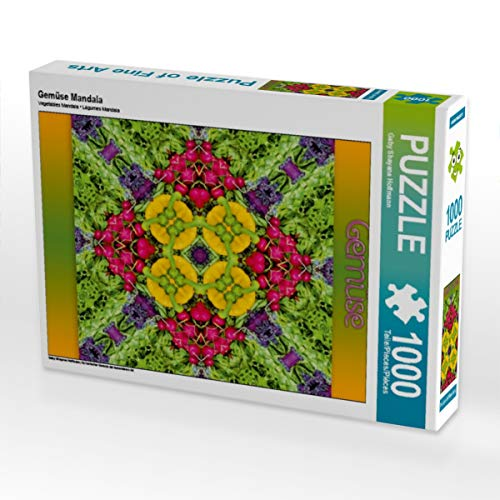CALVENDO Puzzle Gemüse Mandala 1000 Teile Lege-Größe 48 x 64 cm Foto-Puzzle Bild von Dolphins DreamDesign