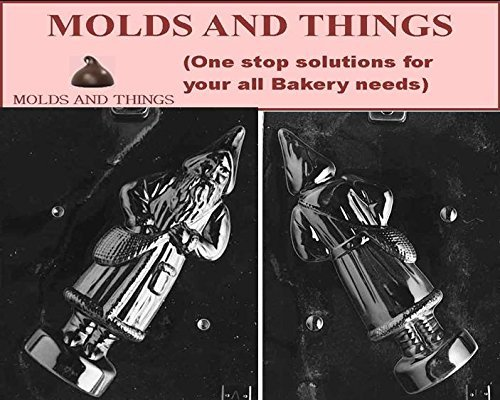 Molds and Things 3D OLD FASHIONED SANTA Front And Back Chocolate Candy Mold With Exclusive Chocolate Making Instruction
