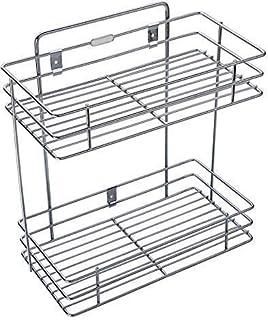 PRAMUKH FASHION Stainless Steel Multipurpose Double Layer Rack/Shelf, Kitchen Rack, Bathroom Shelves and Racks Steel, Wall...