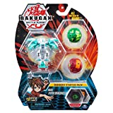 Bakugan Starter Pack 3-Pack, Haos Hyper Dragonoid, Collectible Action Figures, for Ages 6 and Up