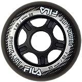 FILA SKATES Wheels Set de Roues pour Patins à roulettes Unisexe Enfant, Unisexe Enfants, 60760297, Noir, 80mm/82A