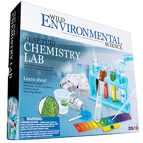 Wild! Science-WES90XL Environmental Science Test Tube Chemistry Lab - 50+ Science Experiments and Reactions - Ages 8+ - Learn About Solids, Liquids, Gases and More!