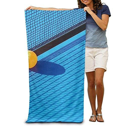 FSTGF Strandhandtuch/Tischtennisball- und Netz-Polyester-Velours-Strandtücher, 79 x 130 cm