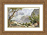 Grand Canyon 18x13 Gold Ornate Frame and Double Matted Art Print by Widforss, Gunnar