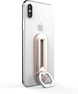 iRing Slide-Wireless Charging Compatible. Simply Slide The Ring Down to Charge. Includes Hook Mount for Car Cradle or Wal...