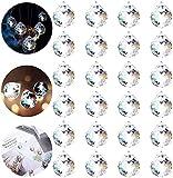 FORMIZON Boule de Prisme, Attrape Soleil Cristal, Prisme fenetre, Suncatcher, Boule en Verre Clair Pendentif, Boule Cristal à facettes, Verre Prisme Pendentif pour Décoration Suspendre Plafonnier