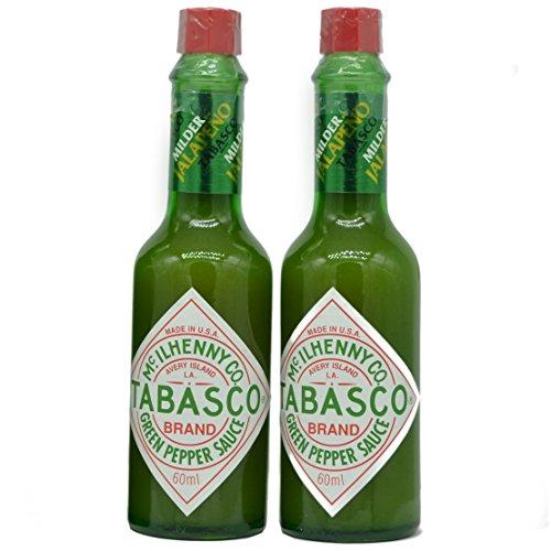 Milden Grünem Pfeffer Tabasco 57Ml - Packung mit 2
