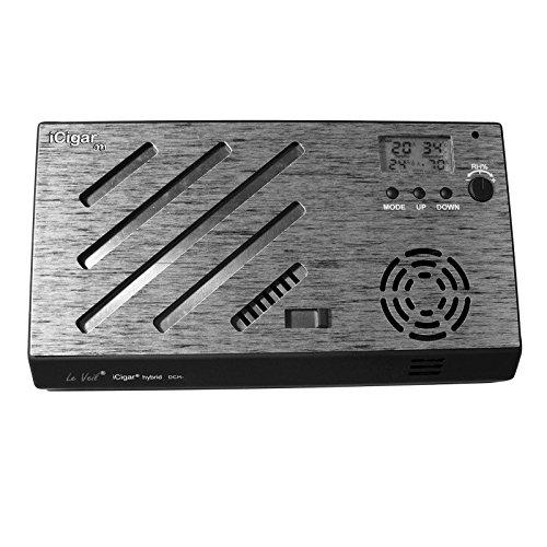 iCigar Hybrid Digital Cigar Humidifier System (Silver/Black)