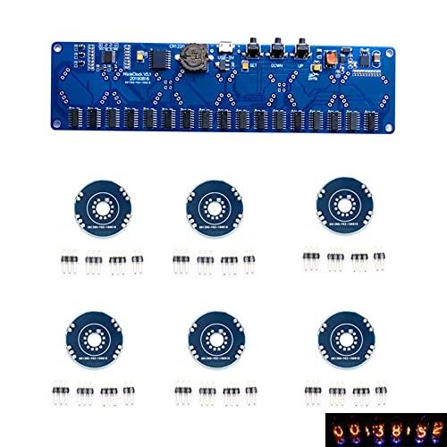 Newest 5V Electronic DIY Kit IN8 IN8-2 IN12 IN14 IN16 IN17 IN17 Nixie Tubo DIGITOS Digital LED Circuito de Regalo Kit de la Placa de Circuito No Hay Tubos (Color : In12 no Tube Acrylic)