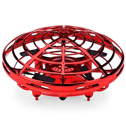 SMC-GJL Droni a Mano per Bambini o Adulti - Scoot Hands Free Mini Drone Helicopter, Easy Indoor Piccolo Orb Flying Ball Drone Toys per Ragazzi o Ragazze (Rosso)
