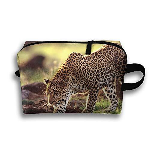 Leopard Cheetah reistas grote toilettas cosmetische zak etui Tote multifunctionele organizer opbergtas