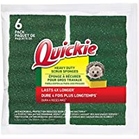 6-Pack Quickie Long Lasting Heavy Duty Scrubber Sponge (2052220)